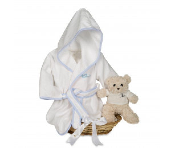 Canastilla teddy spa azul