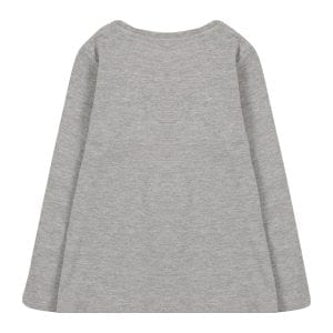 NAME IT Camiseta 'VIX' gris moteado / negro / rosa / rojo claro