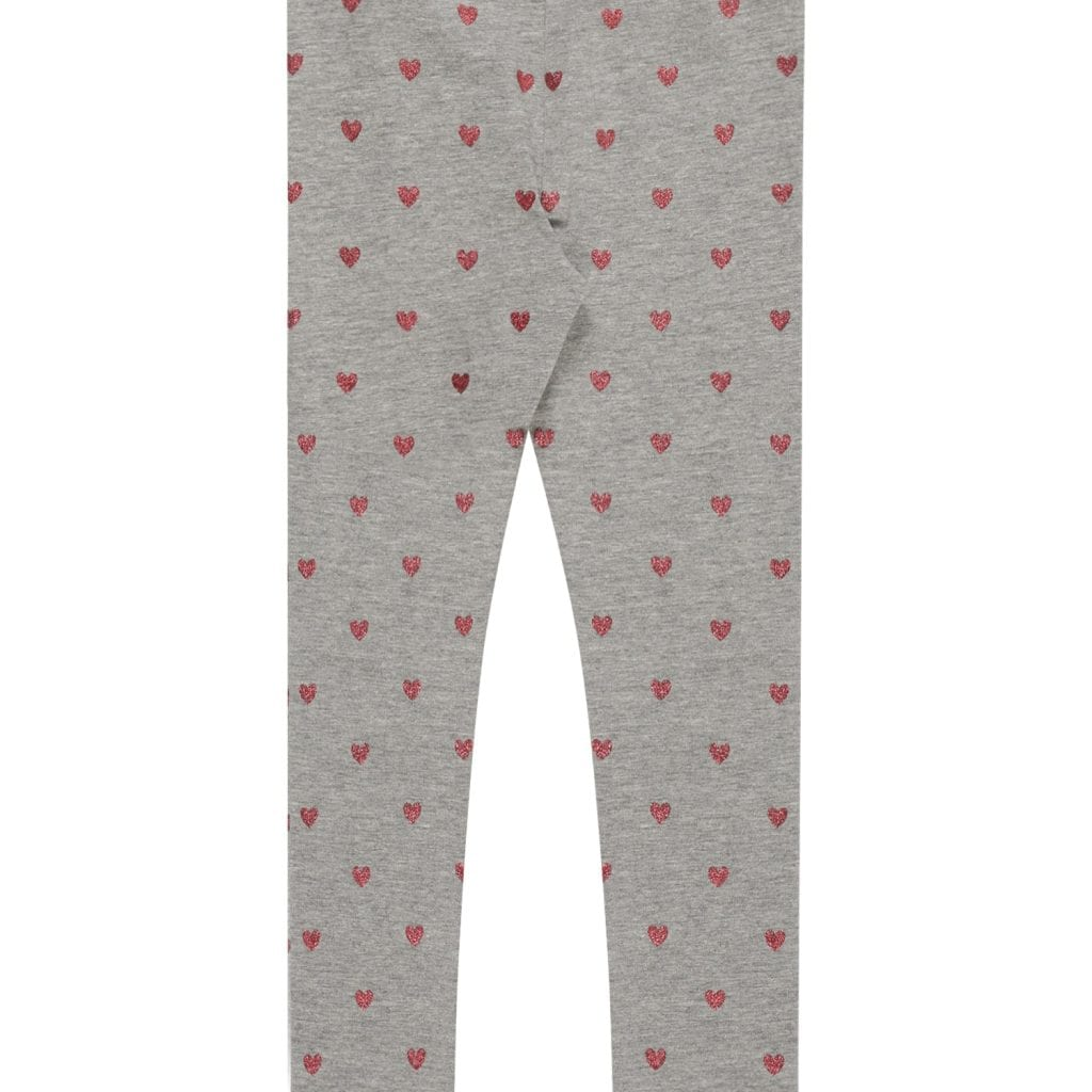 NAME IT Leggings 'VIVIAN' gris moteado / rojo
