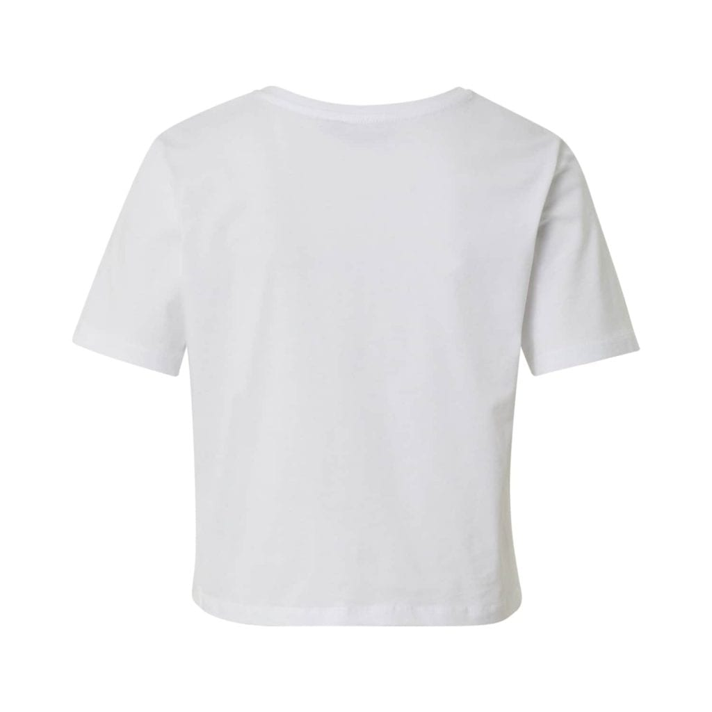 PIECES Camiseta 'PCRINA SS CROP TOP D2D BC' blanco