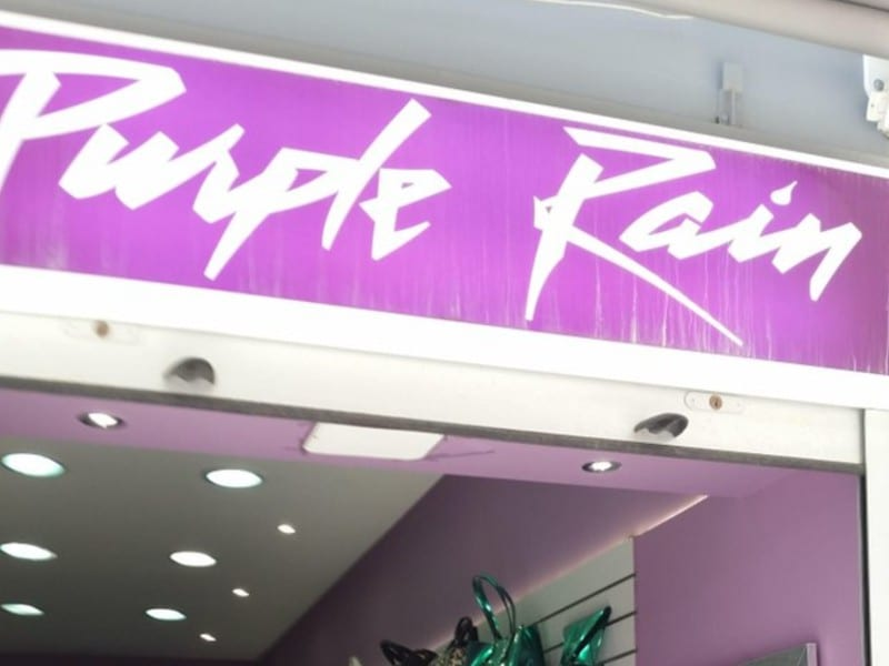 Purple Rain Shop Banner